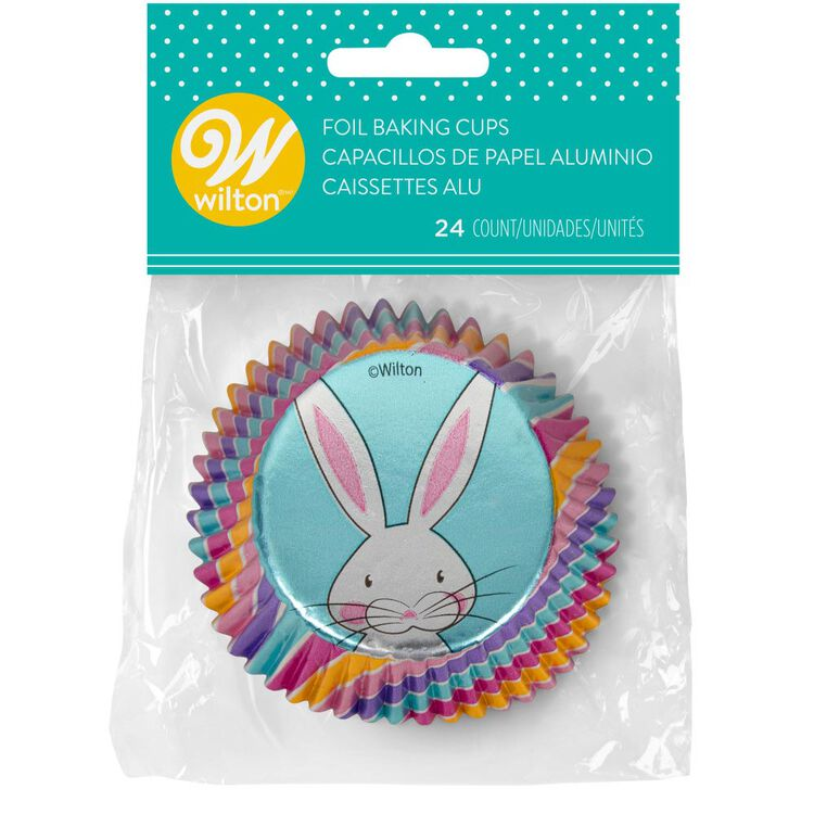 Easter Bunny Foil Cupcake Liners, 24-Count