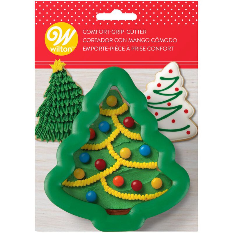Large Holiday Tree Comfort-Grip Cookie Cutter image number 1