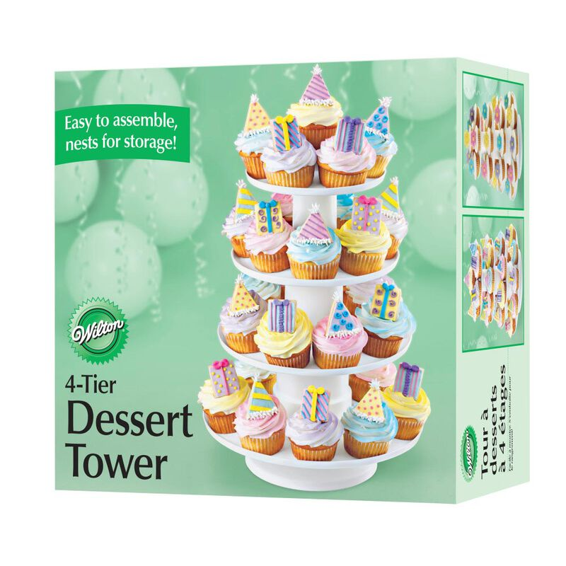 Stacked 4-Tier Cupcake and Dessert Tower image number 5