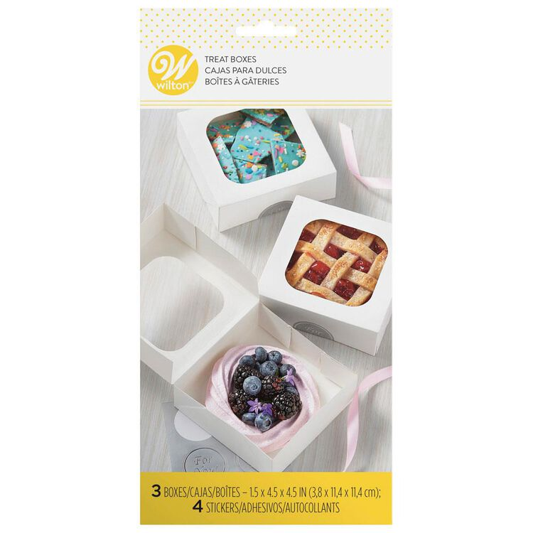 Small White Confectionary Boxes, 3-Count