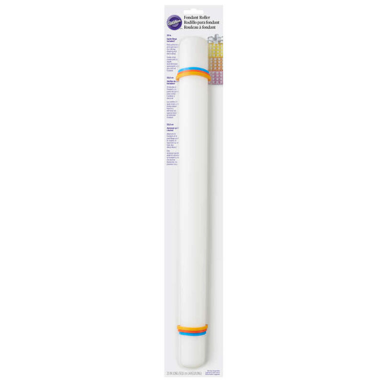 Large Fondant Roller with Guide Rings, 20-Inch - Fondant Tools