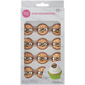 Ro Cookie Face Icing Decorations, 12 CT