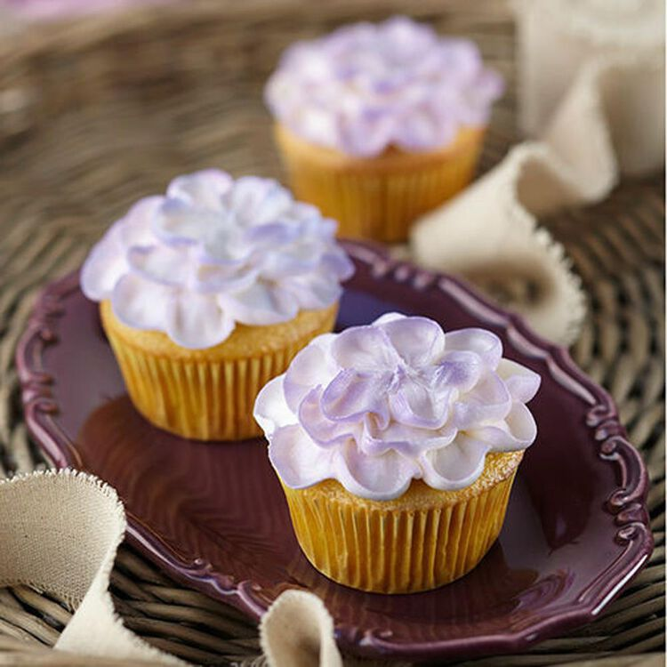 Touch of Violet Color Mist Cupcakes