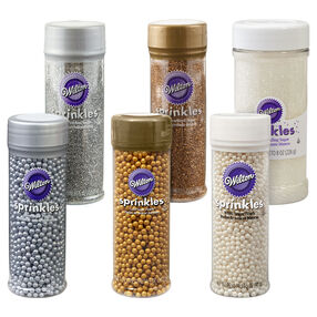 Gold, Silver and White Sprinkle Bundle, 6-Piece