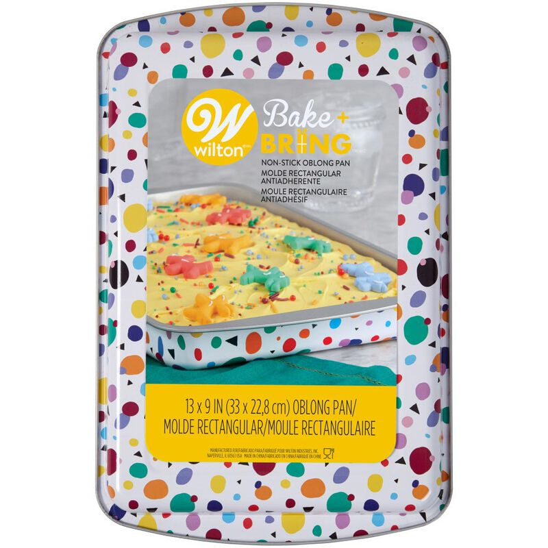 Bake and Bring Geometric Print Non-Stick 13 x 9-Inch Oblong Pan image number 1