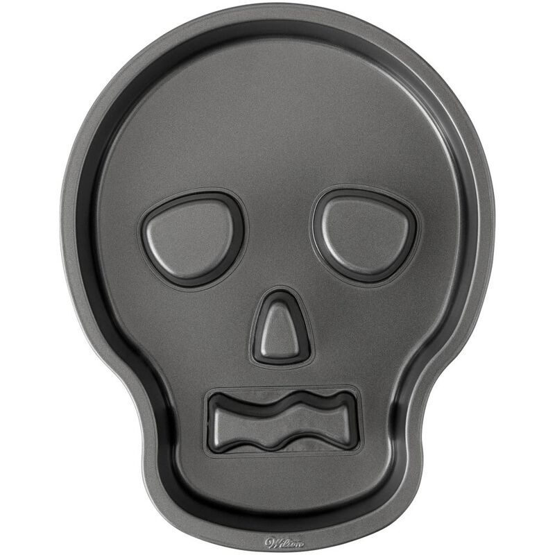 Skull Shaped Cake Pan, 9.5 x 12 Inch image number 0