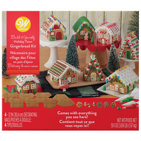 Build-it-Yourself Gingerbread Village Decorating Kit