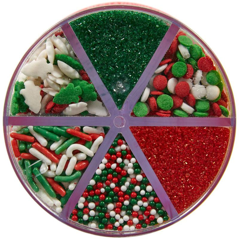 Red, Green and White Holiday 6-Cell Sprinkles Mix, 6.79 oz. image number 2