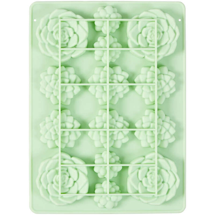 Succulents Silicone Candy Mold, 14-Cavity
