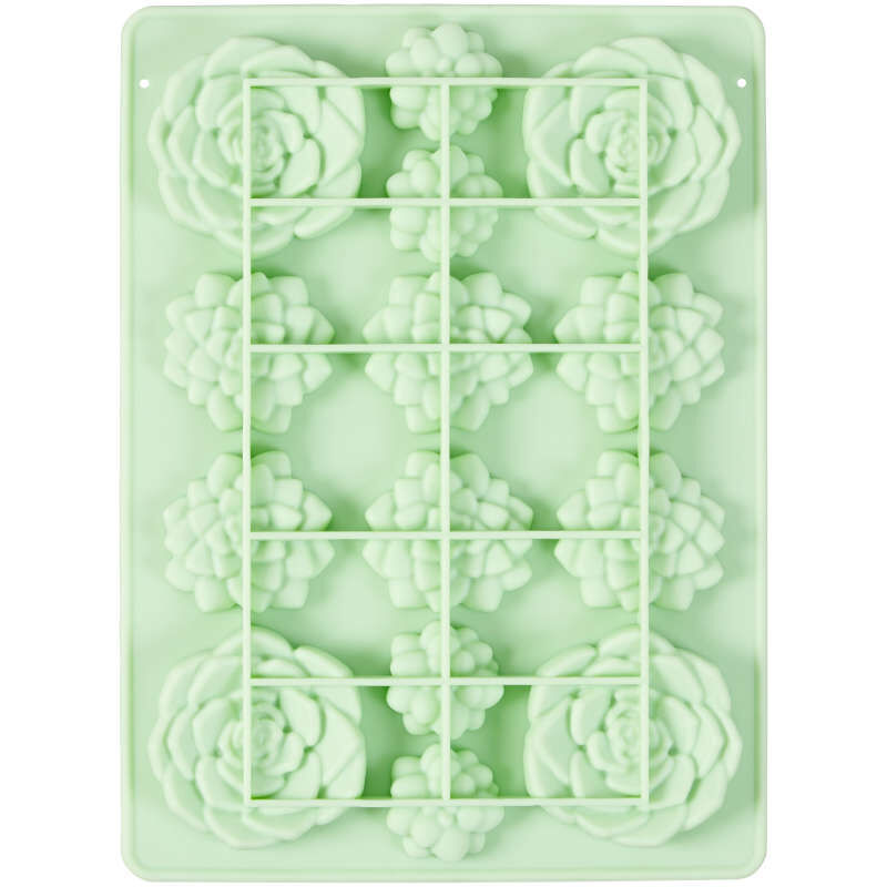 Succulents Silicone Candy Mold, 14-Cavity image number 2