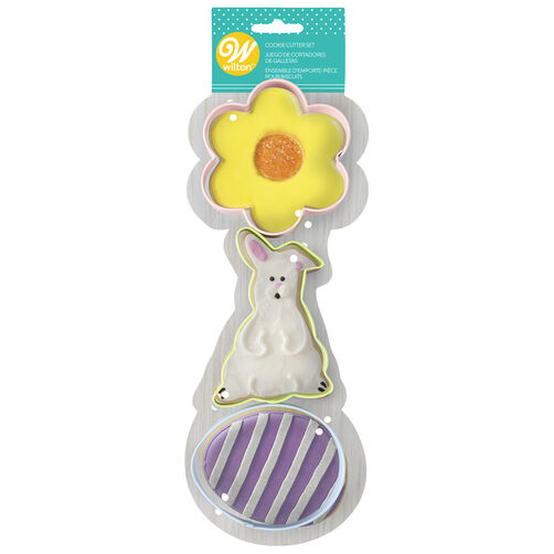 Flower, Bunny, and Egg Cookie Cutter Set