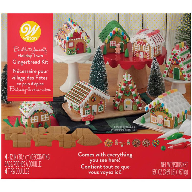 Build it Yourself Party Town Gingerbread Village Decorating Kit