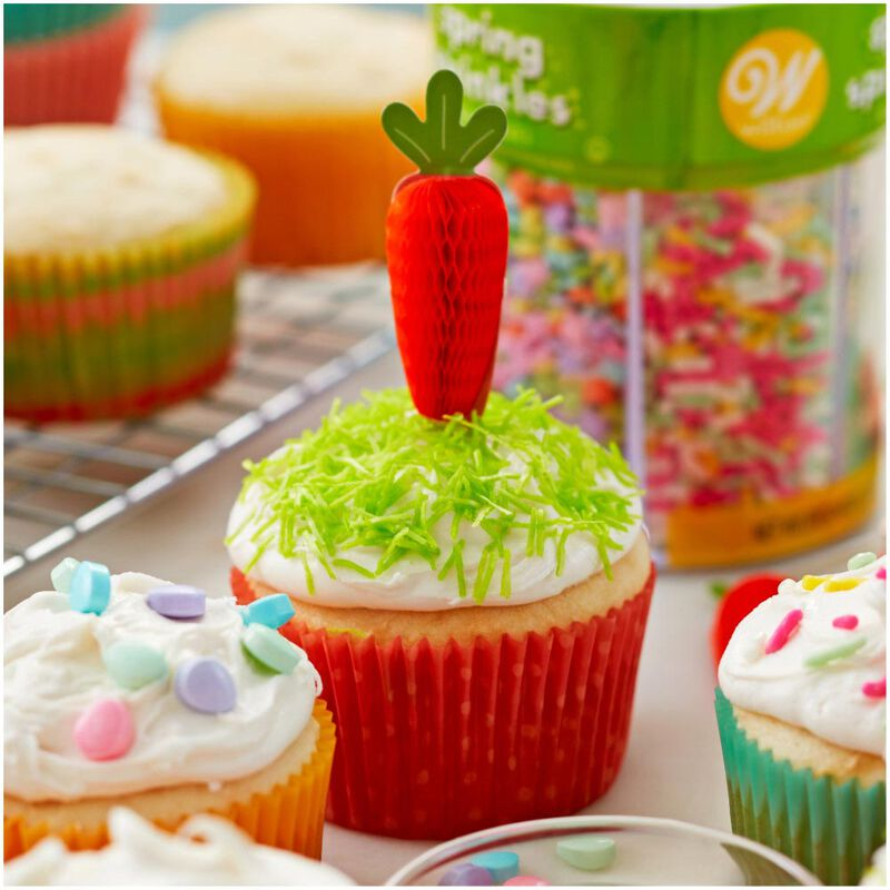 Honeycomb Carrot Cupcake Toppers 12-Count image number 2