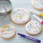 FoodWriter Neon Colored Edible Markers, 5-Piece