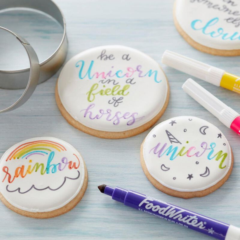 FoodWriter Neon Colored Edible Markers, 5-Piece image number 3