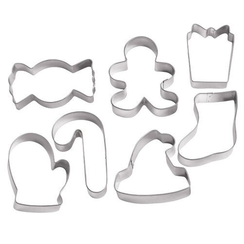 Winter Holiday 7 pc. Cookie Cutter Set