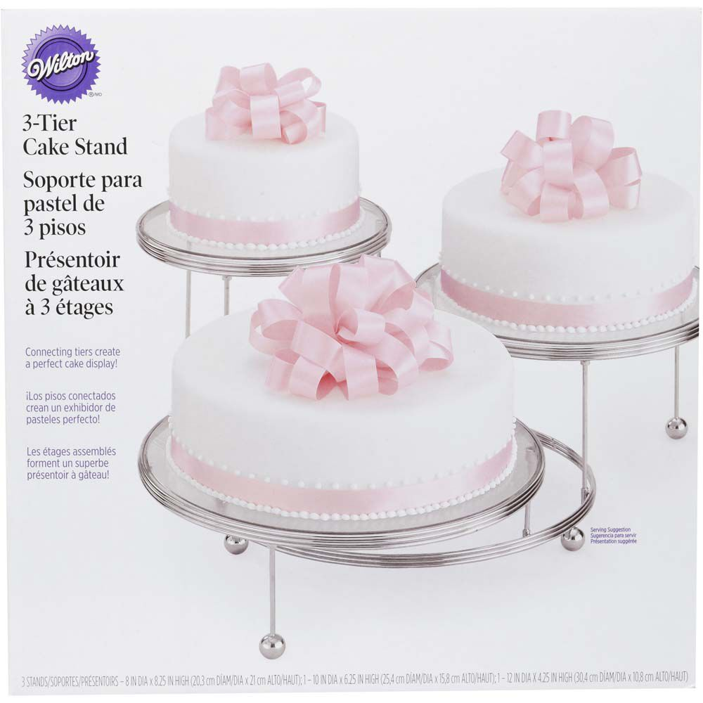 dimensions of 3 tier wedding cake cakes n more 3 tiered stand wilton 13524