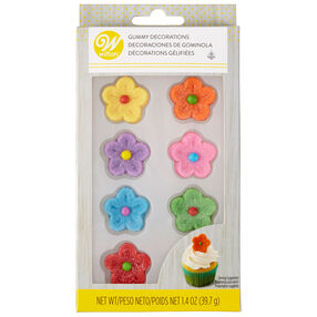 Gummy Flower Decorations, 8-Count