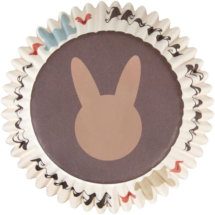 Happy Easter Bunny Cupcake Liners, 75-Count