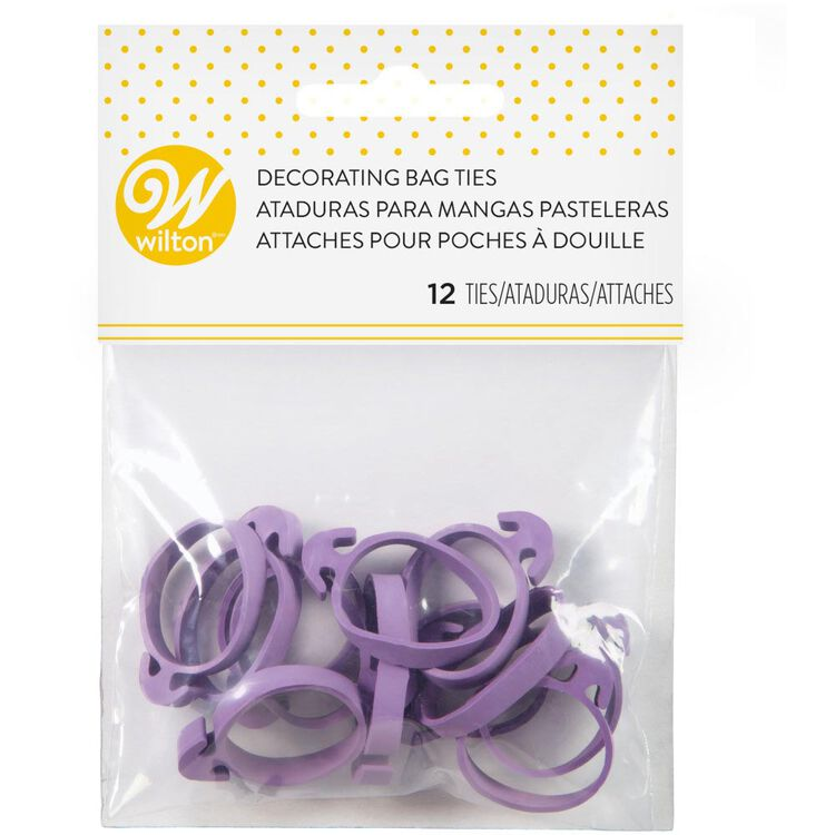 Icing Bag Ties, 12-Count - Rubber Icing Bag Ties