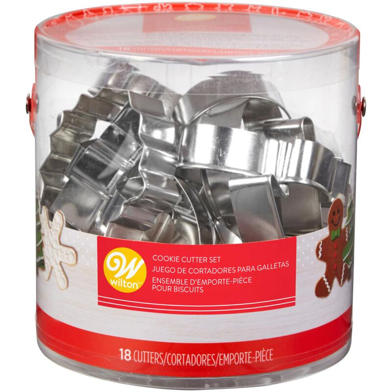 Holiday Shapes Metal Cookie Cutter Set, 18-Piece image number 2