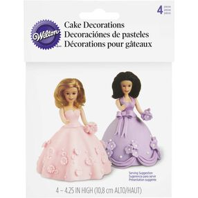 Mini Doll Cake Topper Set