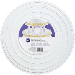 "Decorator Preferred 16"" Scalloped Separator Plate"