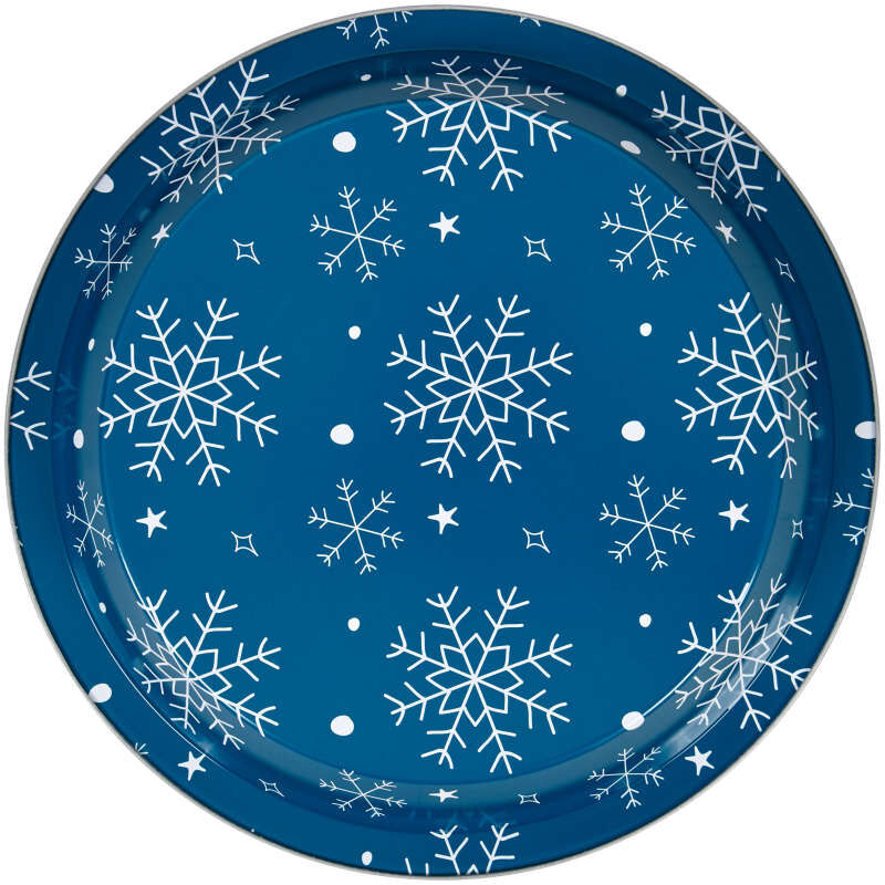 Bake and Bring Non-Stick Snowflake Print 8.5-Inch Pie Pans, 2-Count image number 2