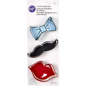 Bow Tie, Mustache & Lips Cookie Cutter Set