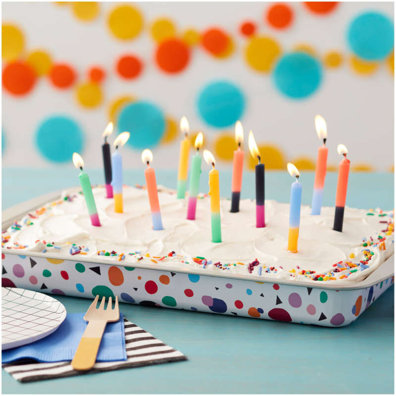 Triangle Print Birthday Cake Pan and Decorating Set, 3-Piece image number 5