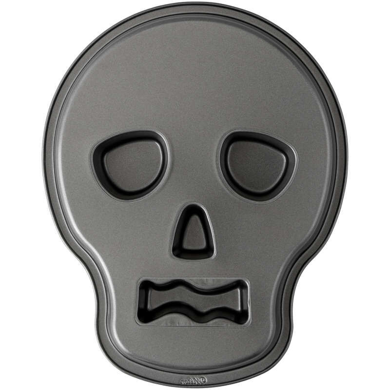 Halloween Non-Stick Skull-Shaped Cake Pan, 9.5 x 12-Inch image number 2