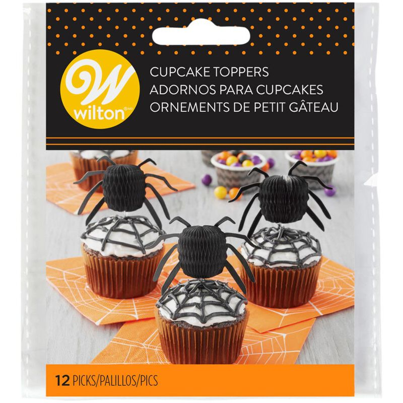 Spider Cupcake Toppers, 12-Count image number 1