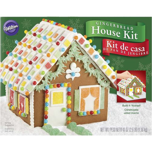 Build it yourself gingerbread cottage decorating kit wilton build it yourself gingerbread house kit solutioingenieria Choice Image