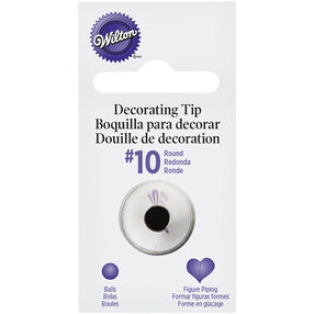 Wilton Decorating Tips - #10 Round Piping Tip