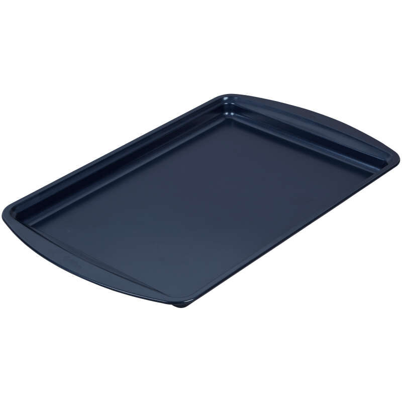 Diamond-Infused Non-Stick Navy Blue Medium Baking Sheet, 15.2 x 10.2-inch image number 2