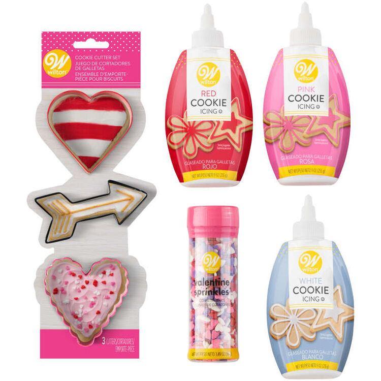 Valentine's Day Cookie Cutter and Decorating Set, 7-Piece
