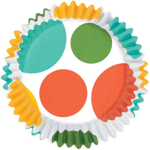 ColorCups Bright Polka Dots Cupcake Liners