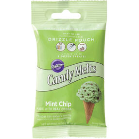 Wilton Mint Chocolate Chip Candy Drizzles Pouch