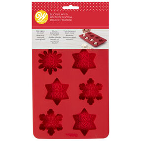 Snowflake Silicone Candy Mold, 8-Cavity