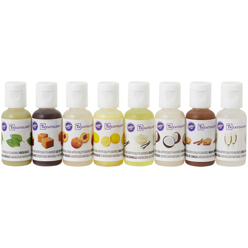 Treatology Flavor Extracts Kit, 8 Piece Food Flavoring