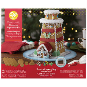 Build-it-Yourself Gingerbread Lighthouse Decorating Kit