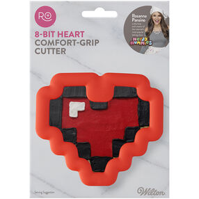 Ro Pixel Heart Comfort Grip Cookie Cutter 1PC