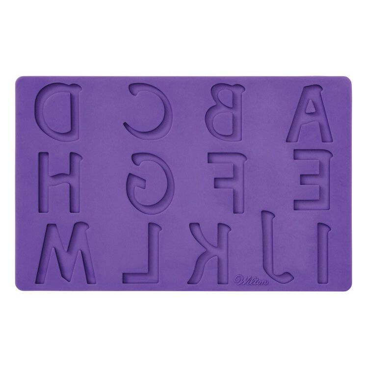 Silicone Letters and Numbers Fondant and Gum Paste Molds, 4-Piece - Cake Decorating Supplies