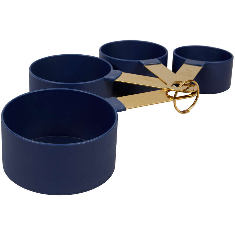 Navy Blue and Gold Kitchen Utensils Mix and Measure Set, 10-Piece image number 3