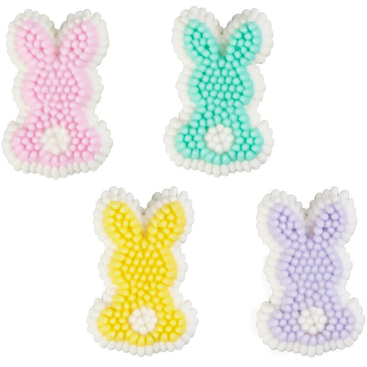 Pastel Bunny Icing Decorations, 12-Count