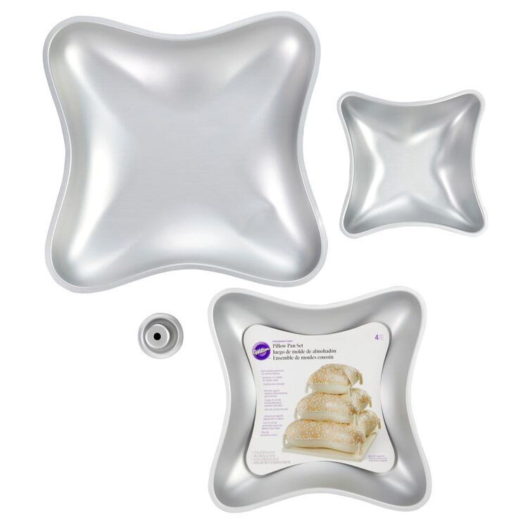 Performance Pans Pillow Cake Pan Set, 4-Piece