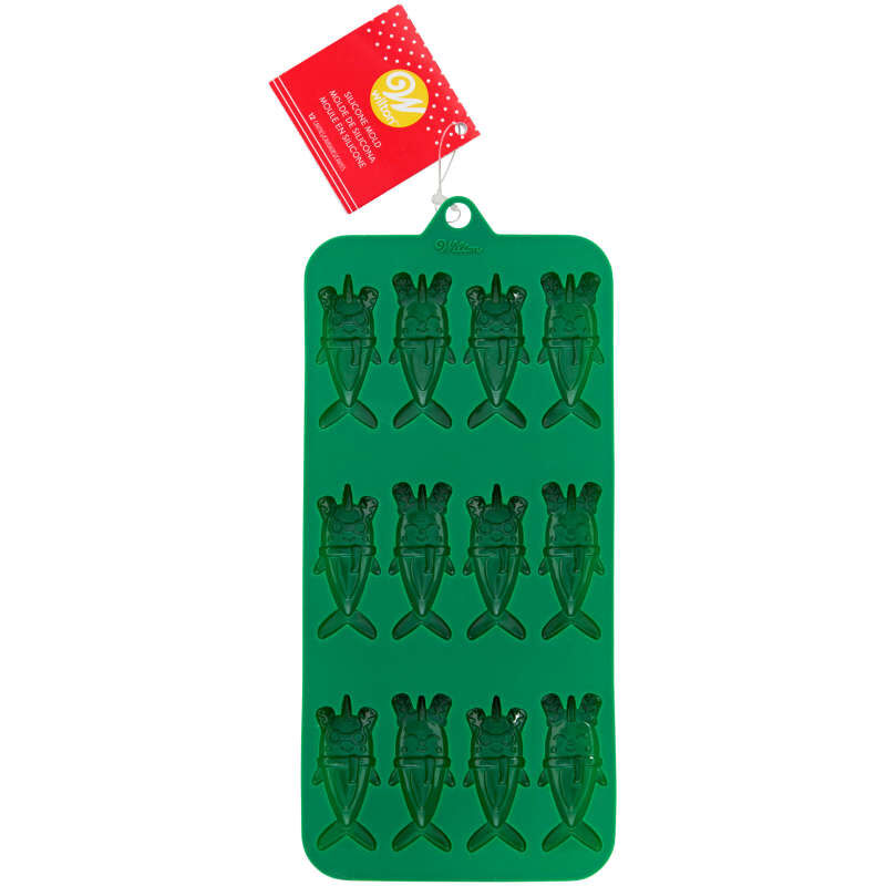 Christmas Narwhals Silicone Candy Mold, 12-Cavity image number 3
