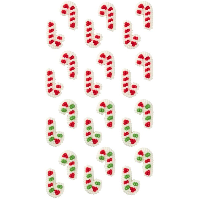 Candy Cane Icing Decorations, 24-Count image number 2