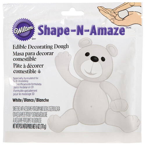 White Edible Decorating Dough