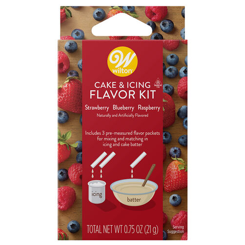 Strawberry, Blueberry and Raspberry Cake and Icing Flavor Kit, 3-Piece